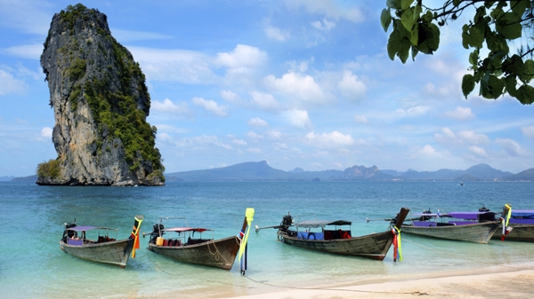 Krabi Thailand boats