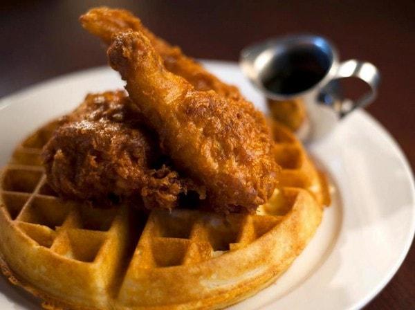 cafe genevieve's chicken & waffles - jackson hole