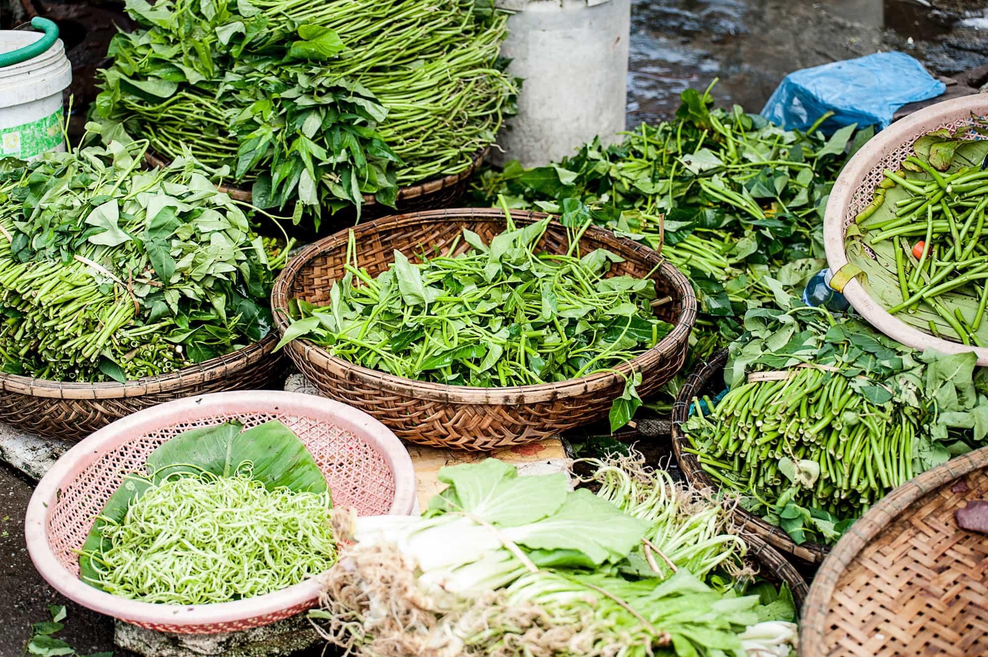Eating Bun Cha in Hanoi, Vietnam